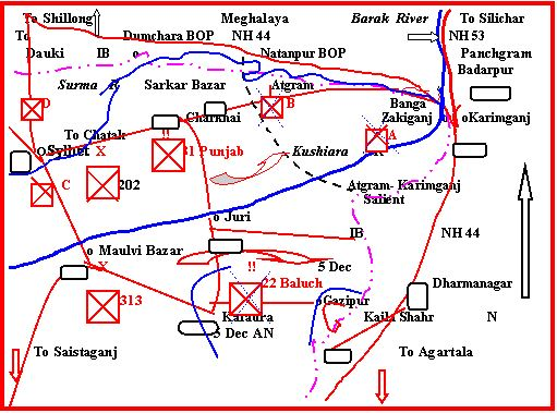 Pakistani deployment at sylhet