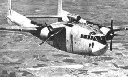 C-119 Packet with a Dorsal Jet pod
