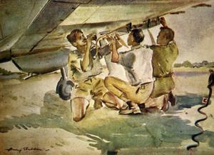RIAF Water Colours by Capt H H Sheldon