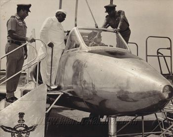 DM inspects the Kiran trainer (c.1972)