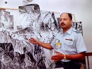 Sqn Ldr Anil Chandla of the Photo Interpretation Cell