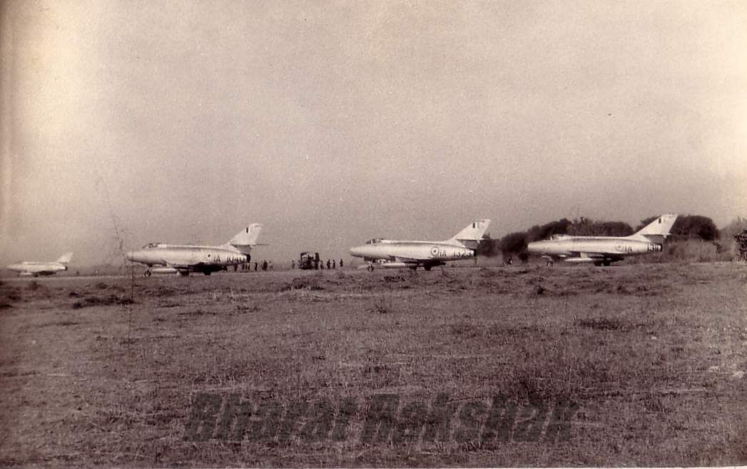 Mysteres on the airfield