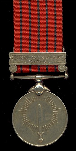 The General Service Medal 1947-48 with the Jammu and Kashmir Clasp